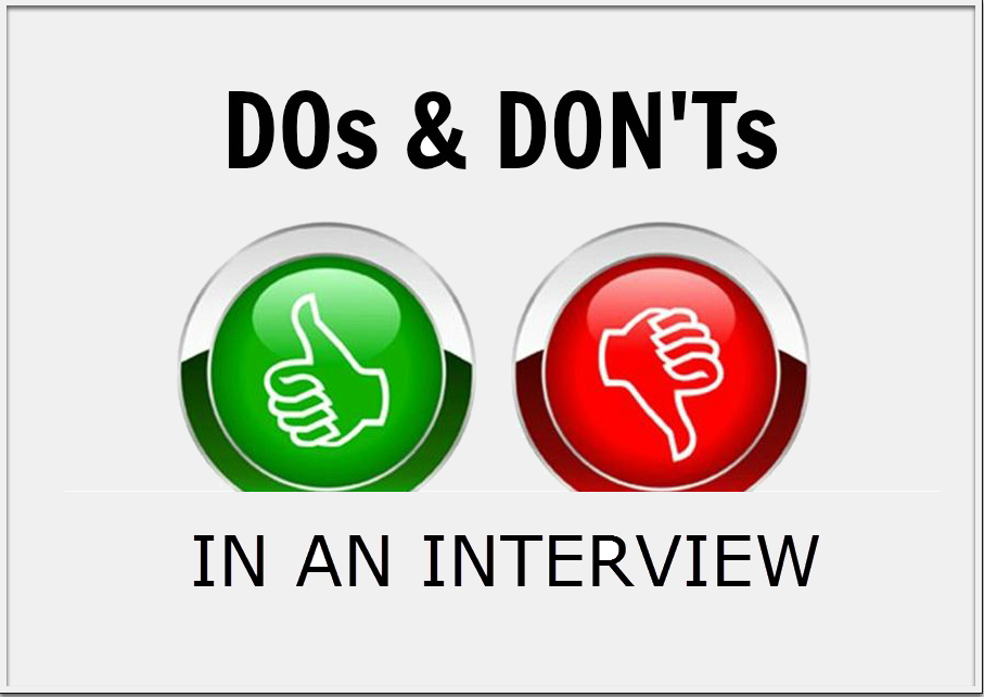 interview dos and don ts